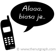 phone with speech bubble - alaaaa, biasa je